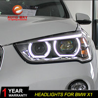 Car Styling Case For BMW X1 headlights 2017 2018 BMW X1 led headlight Head Lamp led drl projector headlight H7 hid
