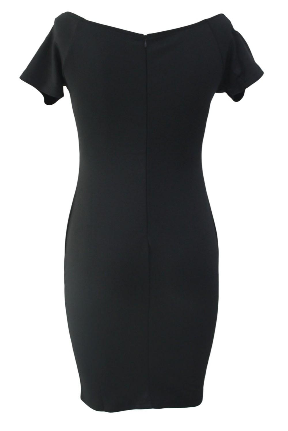 Studded-Off-Shoulder-Black-Short-Sleeve-Bodycon-Dress-LC61188-2-3