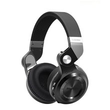 Bluedio T2s Bluetooth кожаные наушники с микрофоном поворотный складной проводной и беспроводной Спорт гарнитура для iPhone samsung ПК/Планшеты