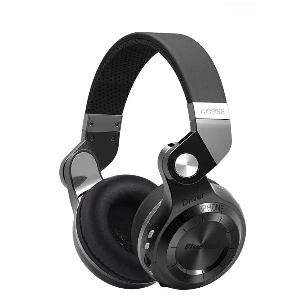 Bluedio T2s di Cuoio del Bluetooth Cuffie con Microfono Rotante Pieghevole Wired e Wireless Sport Auricolare per iPhone Samsung PC/Tablet