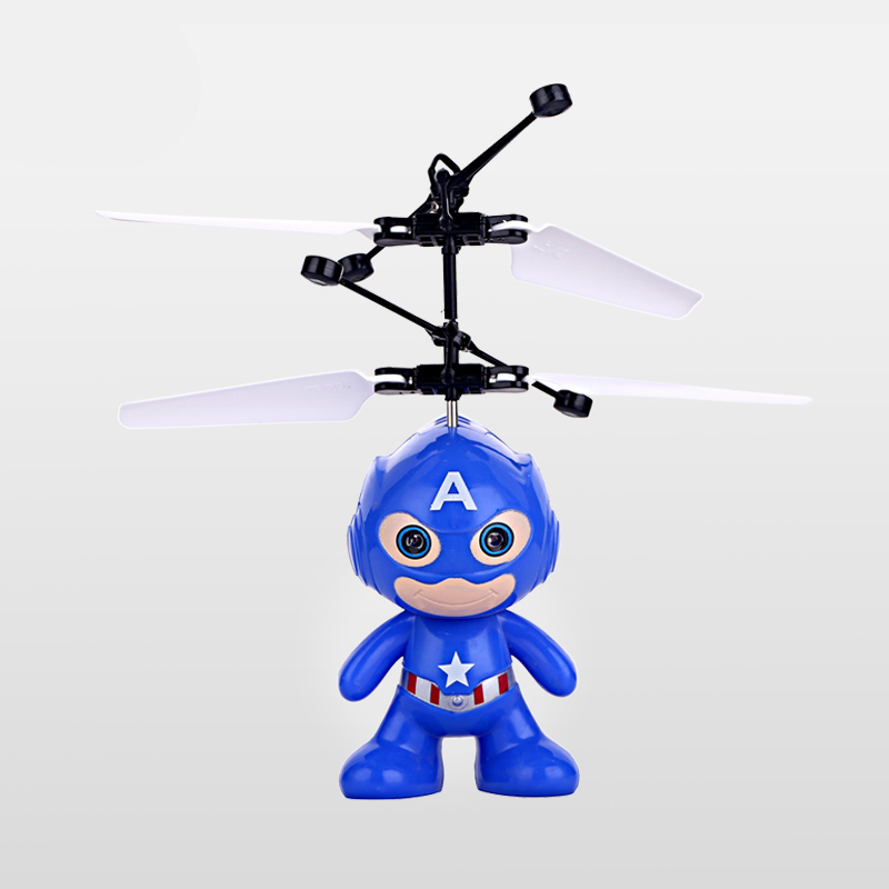 Global Drone 2CH Mini RC Spaceman Helicopter Radio Control Infrared Induction Remote Control Toys with Altitude Holder