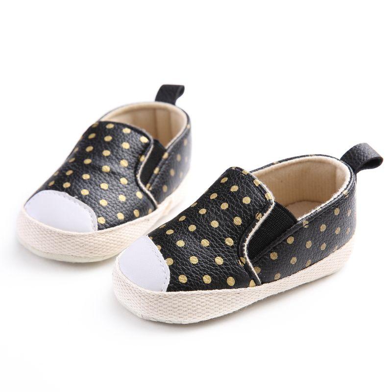 PU Cuero Infantil Niño Polka Dots Cuna Bebe Unisex Niños Niños - Zapatos de bebé - foto 3