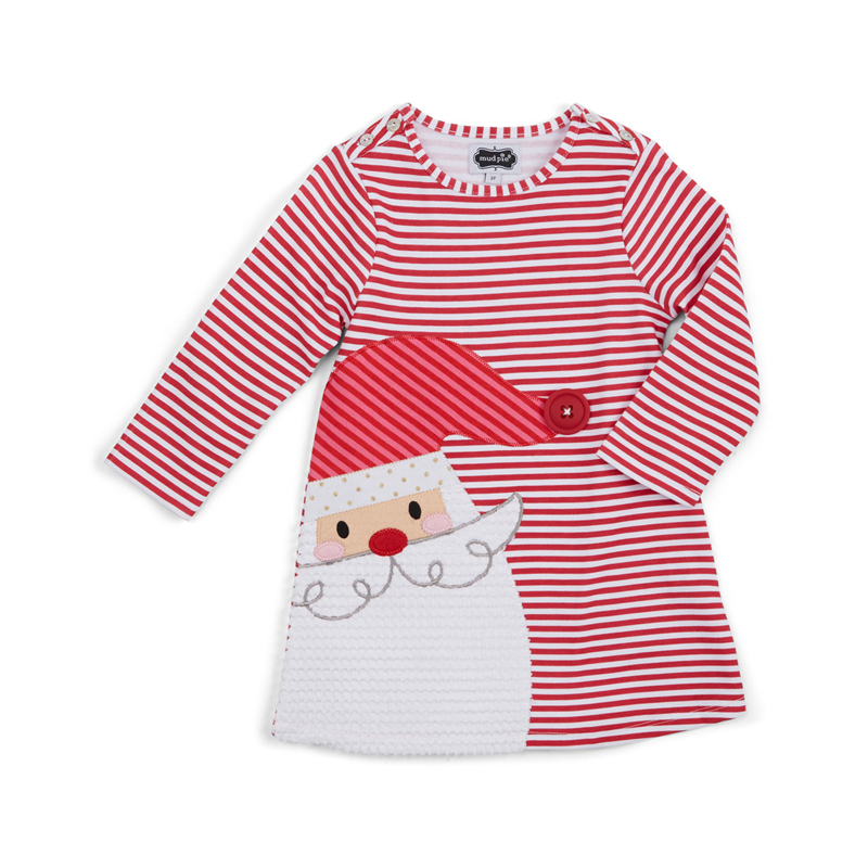 Girls Cartoon Embroidery Santa Claus Deer Cartoon Princess Dress For Girl Party Dress Girl Dress Baby Girl's Christmas Clothes bingo 10m christmas inflatable arch door with santa claus cartoon on the top for christmas party decoration festival toy