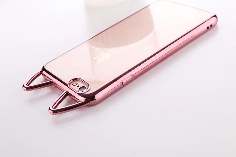 31dc62a60c Fashion Cute Cartoon Cat Ears Phone Case For iPhone 8 6 6S 7 Plus ...