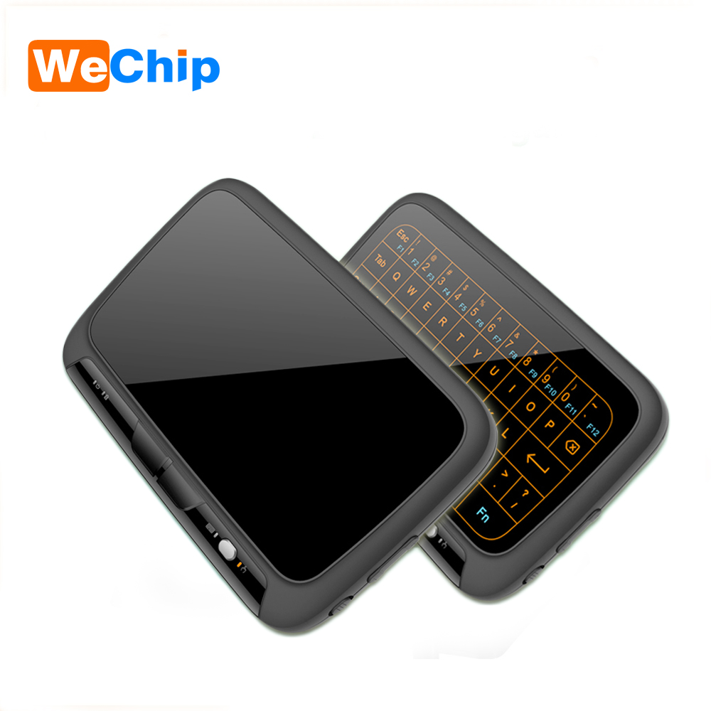 лучшая цена H18 plus Keyboard 2.4G Wireless Touchpad Keyboard Backlight air mouse With Touchpad Mouse for Smart TV/Android Box /Computer