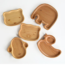 Fünf Arten von Mustern Japanischen Cartoon Mahlzeit Platte Export Holzkiste Platte Holz Echtholz dekoration Geschirr