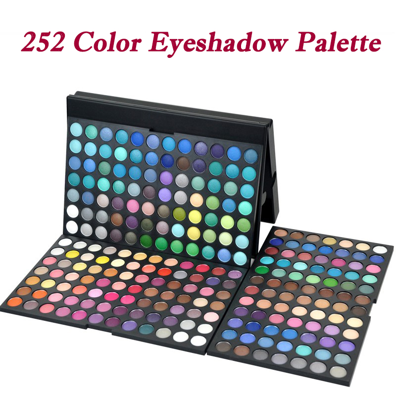 Free Shipping Professional 252 color Eyeshadow Palette Pigment Waterproof EyeShadow Palettes Women Makeup Cosmetic Makeup Eyes free shipping face makeup