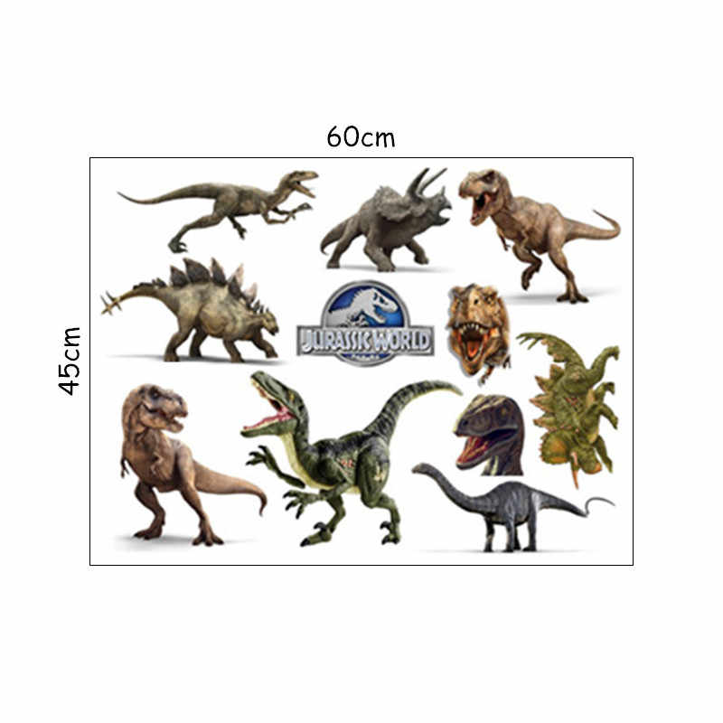 Динозавр wall art Наклейки Юрского периода животный мир мультфильма 3d Виниловые наклейки детской комнаты Детская украшения diy аниме плакат 60*45 см
