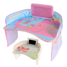 Cartoon Waterproof Stroller Organizer Tray Stroller Accessories Bag For Stroller Toys Multifunctional Dining Drink Table