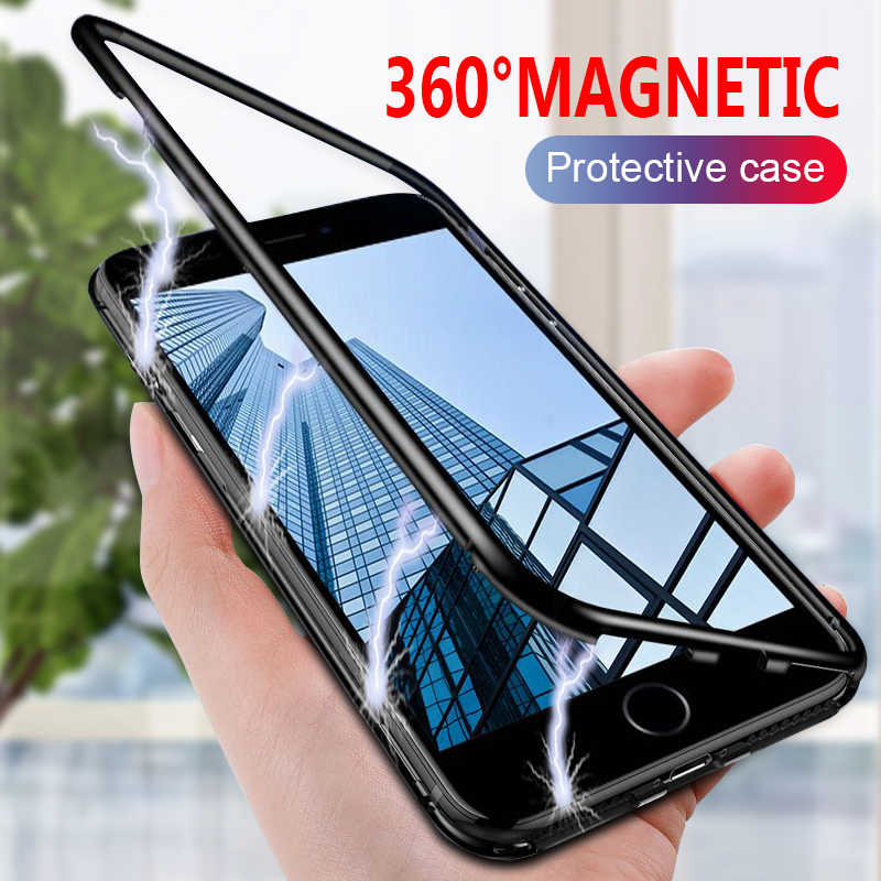 Luxury 360 Full Protective Magnetic Case On The For IPhone 7 6 6s 8 Plus Phone Case Cover For IPhone 8 6s 7 Plus Shockproof Case
