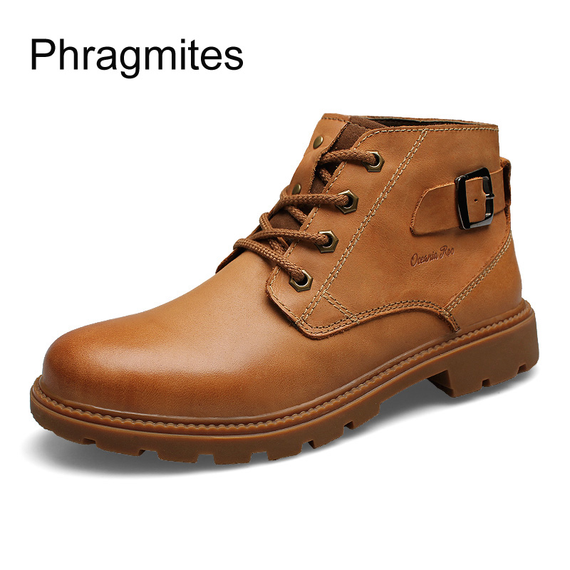 Phragmites Handsome Cool Unisex Shoes Boots England Fashion Ankle Boots Business Boots  Winter Ladies Solid Color Martin Boots