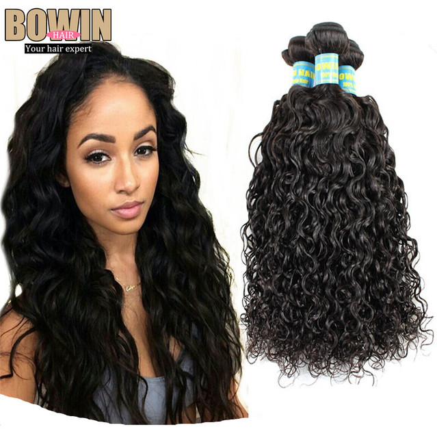 Aliexpress 6A Brazilian Natural Wave Virgin Hair 3pcs lot Bowin Hair Unprocessed More Wave Virgin Hair Extensions