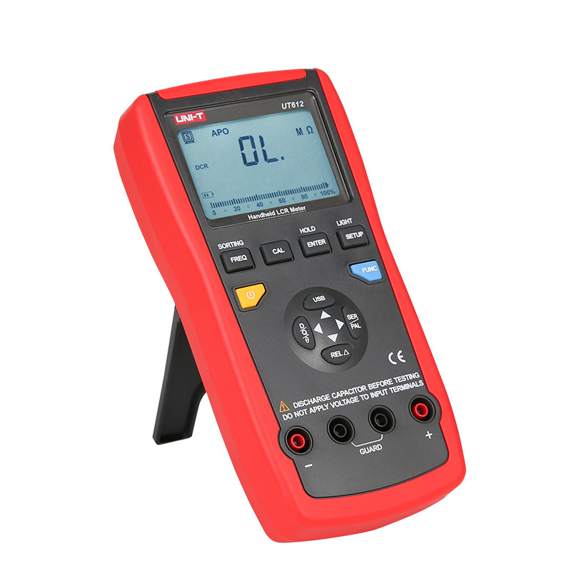 UNI T UT612 100KHz LCR Meter; Frequency/Resistance/Inductance/Capacitor Test Table, Data Storage/Analog Bar Graph/Relative Mode|Capacitance Meters| - AliExpress