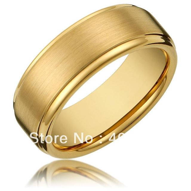 Free Shipping Usa Hot Selling 8mm Men S Tungsten Carbide Gold