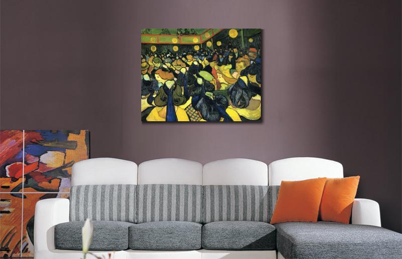 66b9611ec07 O salão de baile em Arles por Vincent Van Gogh reprodução pinturas a Óleo  Paisagens art hand painted decoração da sua casa em Pintura   Caligrafia de  Home ...