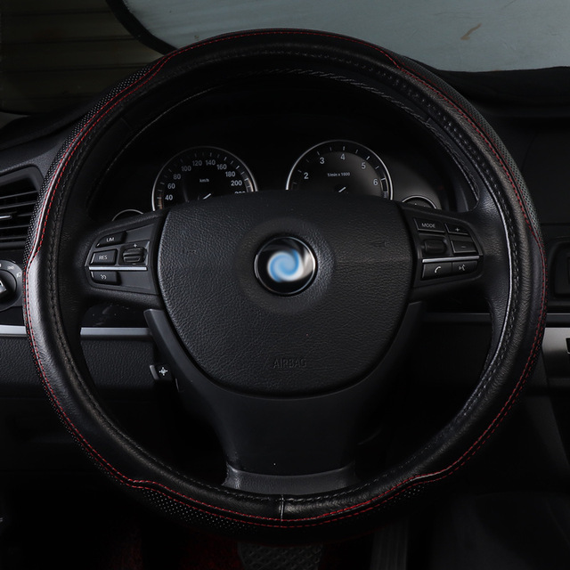 Housse de volant de voiture accessoires en cuir véritable pour Chrysler 300c grand voyager citroën BERLINGO BLINGO c2 C3 Aircross