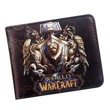 World of warcraft aliança carteira id cartão bi-fold carteiras legal filme jogo bolsa