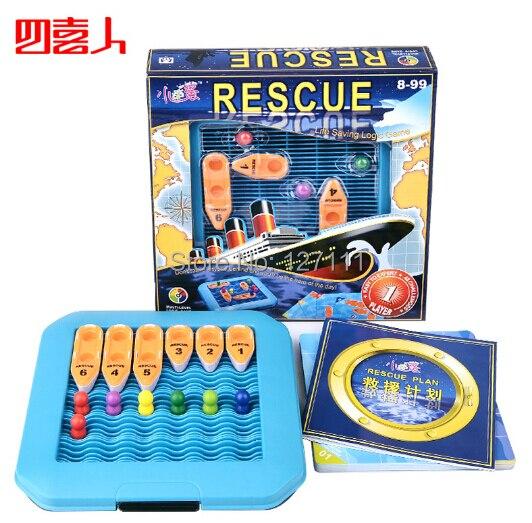 Kids puzzle game Rescue Plan intellectual toys space imagination logic puzzle maze task 48 quesions brinquedos meninos