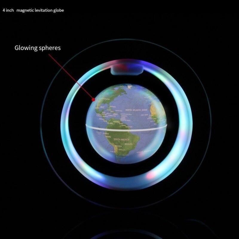 Cadeau d'affaires Patron Globe Flottant Magnétique de Haute Qualité Ornements en forme de C 4 Pouces Cadeau Pour Partenaire Géographie enseignement