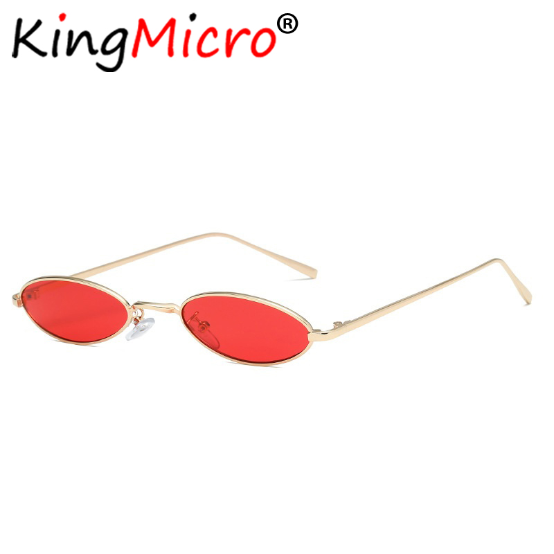 el Malus small Thin Square Frame Sunglasses Women Mens Red Tan Lens Metal Shades Sexy Ladies Sun Glasses Brand Designer Oculos Independent