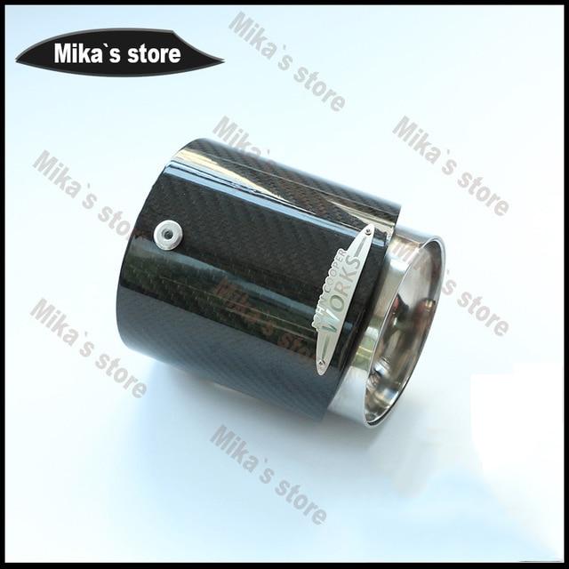 Горячие продажи мини-автомобиль-стайлинг Купер выхлопной трубы углеродного волокна глушитель подходит для r55 фильтр R60 R61 f55, которая в r56 F56 F54 стайлинга автомобилей