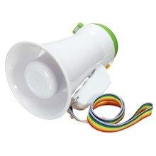 New Portable Handheld Megaphone Foldable 5W Loud Speaker Bull horn Voice Amplifer