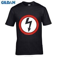 Estilo dos homens GILDAN t camisas Moda Slim Fit Top Manga Homens Tshirt Moda Marilyn Manson Logotipo da Banda de Rock T-Shirt por atacado