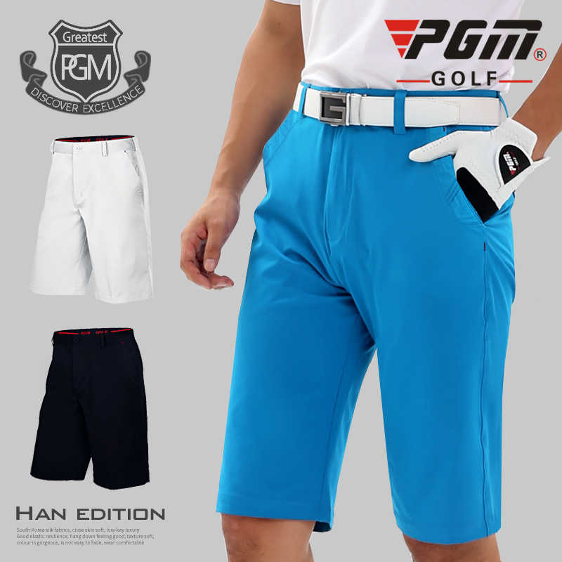 Pgm Authentic Golf Shorts Men's Pure-Color Breathable Shorts Summer Comfortable Ultra Thin Sportwear Outdoor Trousers D0358