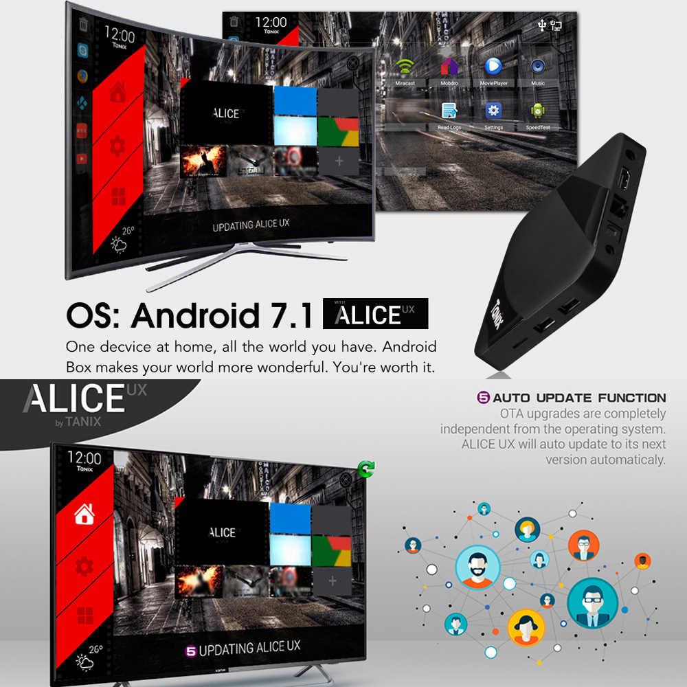 TX3 最大スマートアンドロイド 7.1 Tv ボックス Amlogic S905W クアッドコア H.265 VP9 2 ギガバイト/16 ギガバイト Wifi LAN BT4.1 HD スマートメディアプレーヤーの表示画面