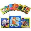 6pcs/set Cartoon Animal Soft Short Plush Animal Story Intelligence Developing Toy Baby Educational Toy Cloth Book Activity Book