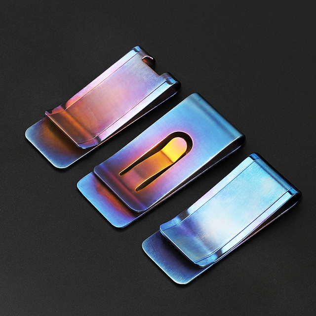 Blue Titanium Alloy Money Clip