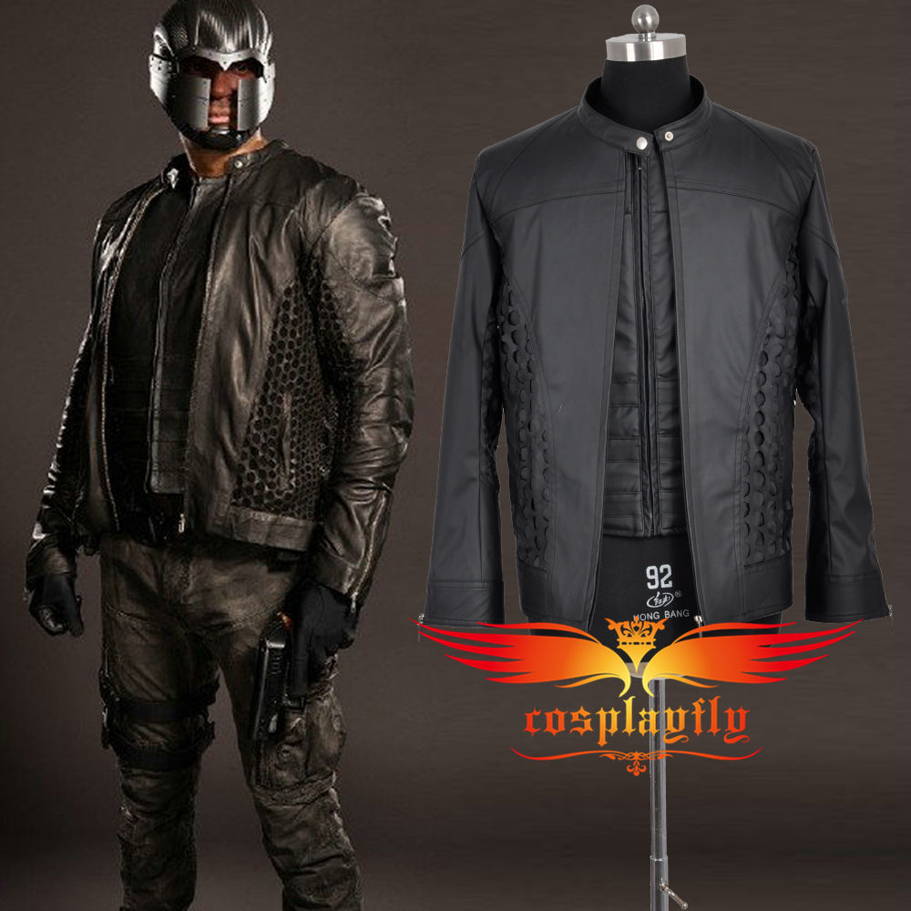 2015 Green Arrow Season 4 Assistant John Diggle Jacket and Vest Upper-body Outfit Battleframe Cosplay Costume W0879