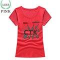 LIKEPINK 2017 Summer Women Tops Letter Pattern Sequins Harajuku Mockup T-shirt Camiseta Femenina T Shirt Red Tee Shirt Femme