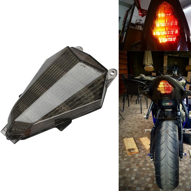 Aftermarket free shipping Motorcycle Led Tail Light For 2006 2007 2008 2009 2010 2011 2012 2013 Yamaha Yzf R6 Yzf-R6 SMOKE aftermarket free shipping motorcycle parts led tail brake light turn signals for honda 2000 2001 2002 2006 rc51 rvt1000r smoke