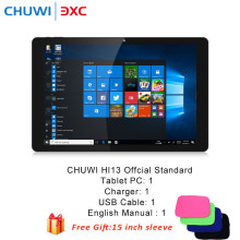 Hi13 13.5 pulgadas 2 en 1 PC de la Tableta de CHUWI Windows10 Intel Celeron N3450 Quad Core 4 GB RAM 64 GB ROM Dual WiFi Funda Para Portátil 15 pulgadas