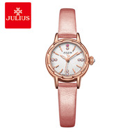 JULIUS Wrist Trendy Watches Girls Women Watches Geneva Watch 2018 New Designer Quartz Round Leather Watch Movt Uhr D1