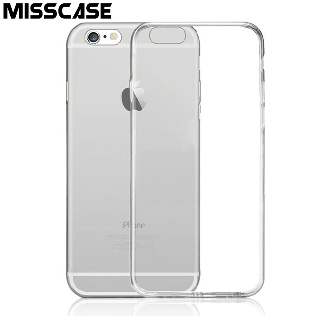 MISSCASE Clear Crystal TPU Soft Phone Case For iPhone 6 6s 7 plus Cases Classic High Quality Silicone Cover Case for iphone 6 7
