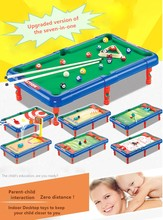 Mini Billiards Football Basketball Bowling Hockey Golf Hockey Seven-in-one Indoor Desktop Toy Parent-child interaction(China)