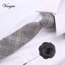 6.5cm cotton Tie Sets Mens Accessories Solid Striped Slim Business formal plaid/striped/solid  Necktie Ties for Men Gravatas