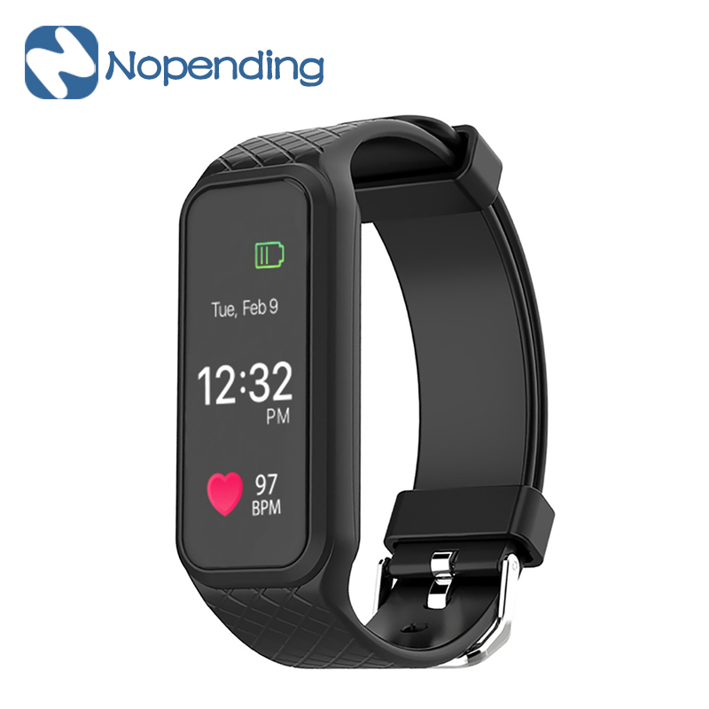 New Makibes L38I Bluetooth Smart Band Dynamic Heart Rate Monitor Full color TFT LCD Screen Smartband
