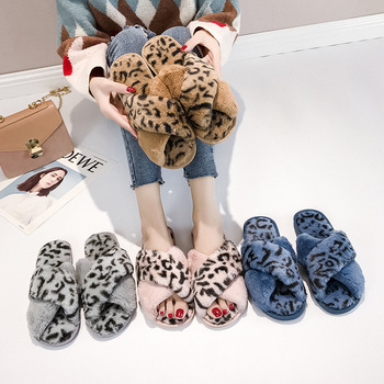 8223p Leopard shoes maomao fashionable new fairy crossed flat in the fall and winter of 2018