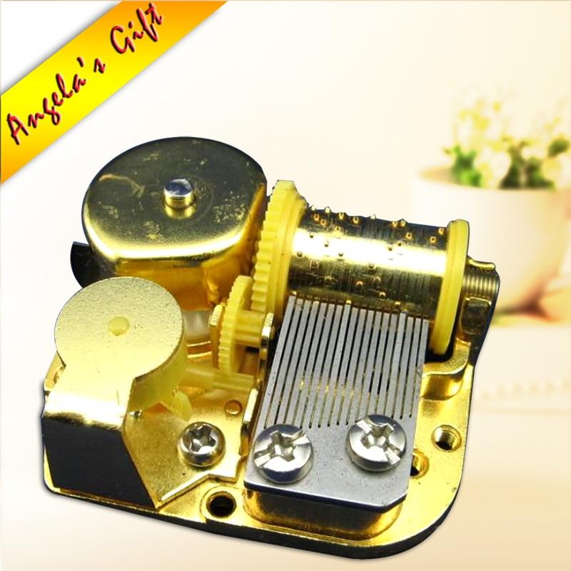 Golden Music box 18 Notes hudební mechanismus DIY box music, kožešinová elise pro milovníky, svatební suvenýr zdarma poštovné Angela dárky