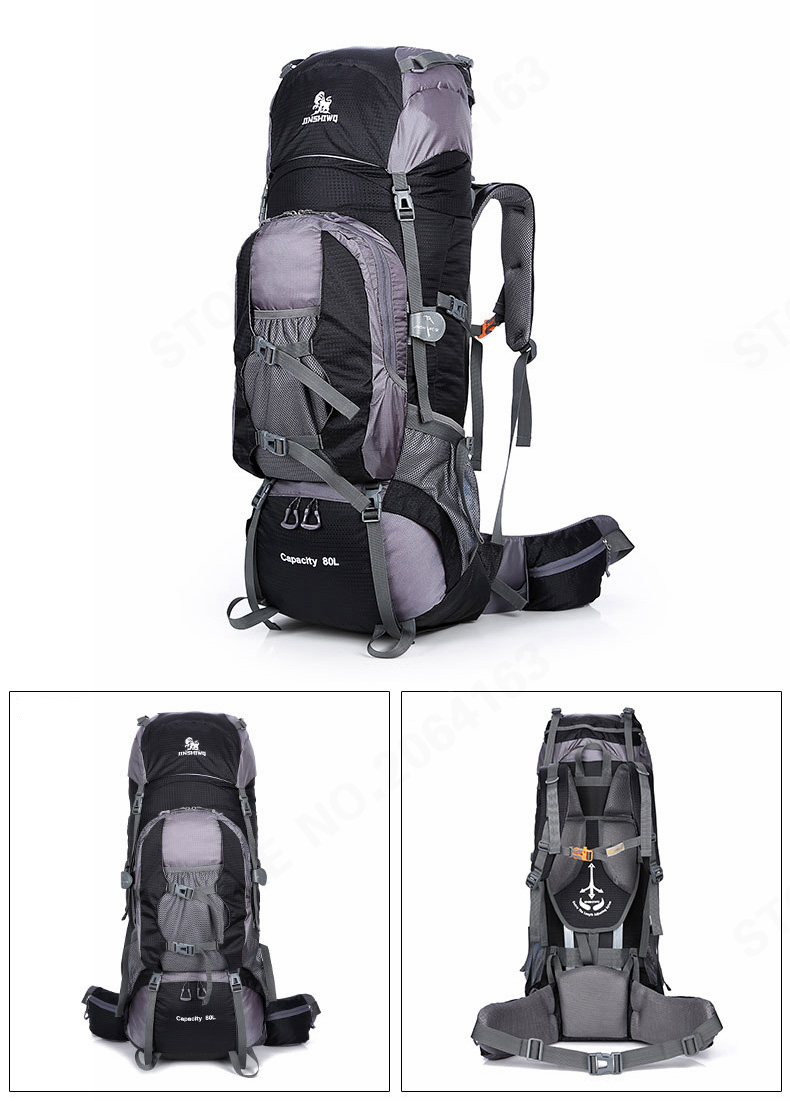 null  Hiking bag. Fabric  nylon size  35x28x80cm. Material  null capacity   80L Color B  Black 6554e44b03d0b