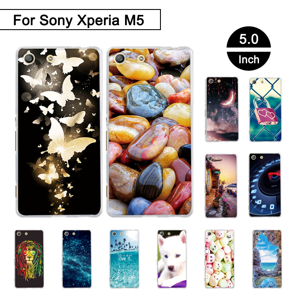 Galleria fotografica Painted Case For <font><b>Sony</b></font> Xperia M5 E5603 E5606 E5653 Back Phone Cover For <font><b>Sony</b></font> Xperia m5 Soft TPU Cases Shells For <font><b>Sony</b></font> Xperia M 5