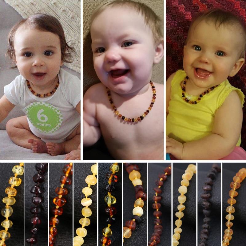 Baltische barnsteen tandjes ketting voor Baby (Cognac) - 3 maten - - Fijne sieraden - Foto 5