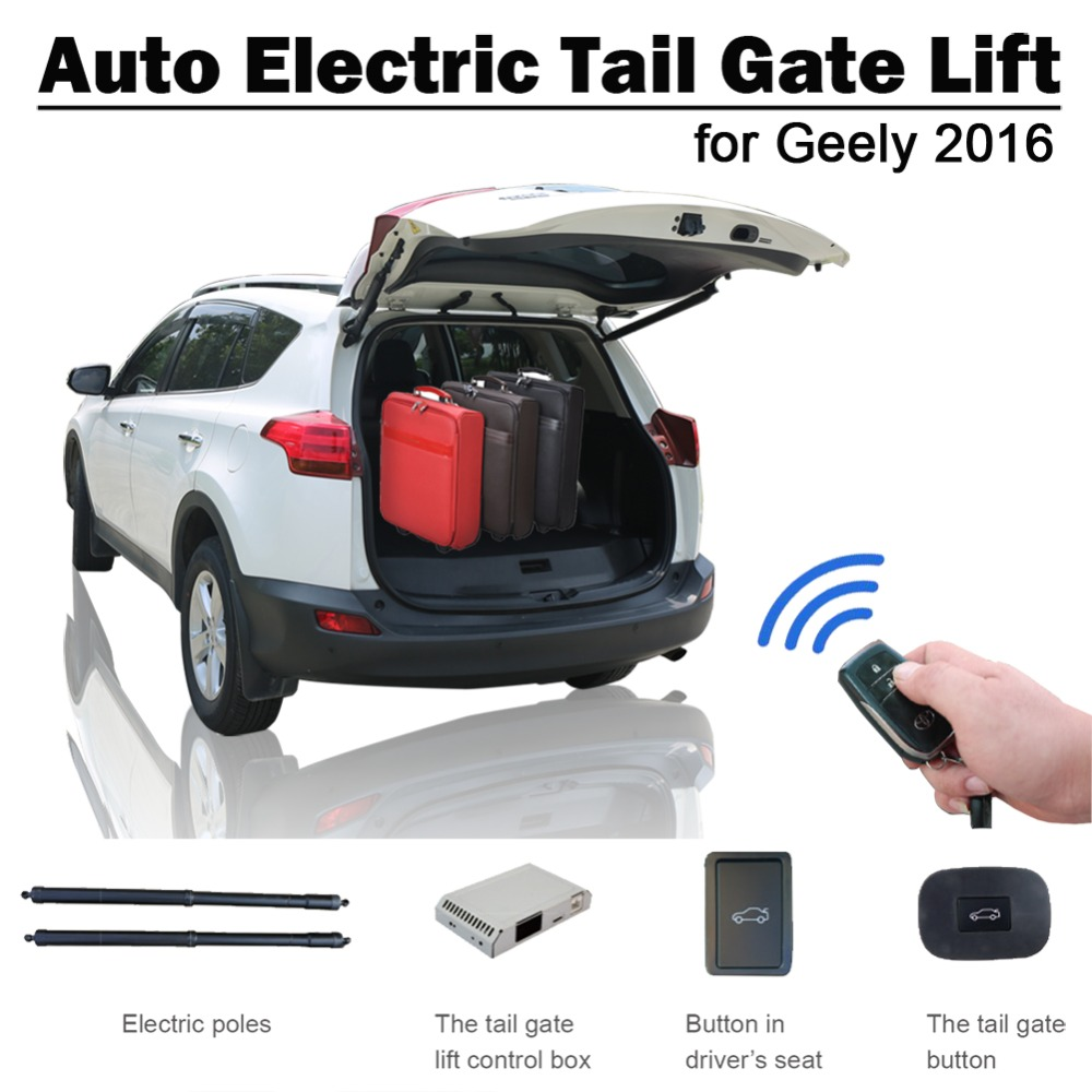 Smart Auto Electric Tail Gate Lift For Geely Atlas 2016 Remote Control Drive Seat Button Control Set Height Avoid Pinch