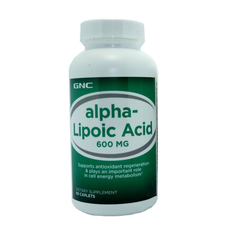 alpha-Lipoic Acid 600 MG 60 Caplets Supports antioxidant regeneration plays an important role in cell energy metabolism. free shipping alpha lipoic acid 300 mg 60 caplets