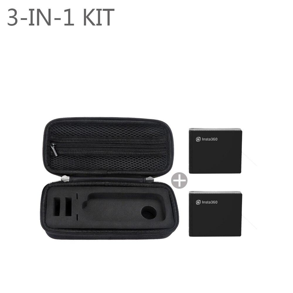 NEW Insta360 One X Action Camera Portable EVA Bag Case 2 Pcs Original Batteries 1200mAh 4