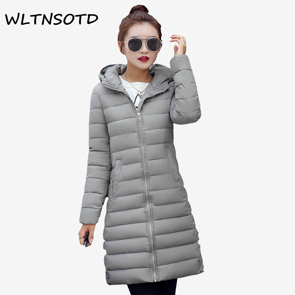 2017 New winter cotton coat women long Slim thin fashion hooded Hairball jacket Female Solid warm Parkas 2017 new women winter cotton coat long slim hooded badge pattern warm jacket female fashion solid parkas