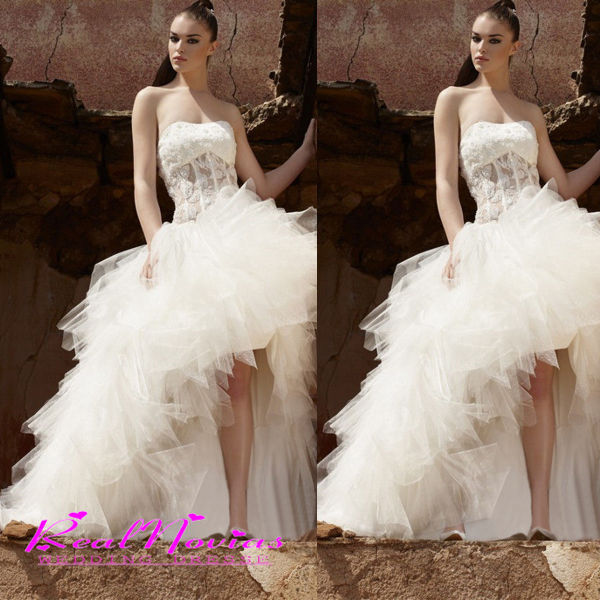Newly arrival wedding dress 2014 romantic sexy high low for Sexy high low wedding dresses